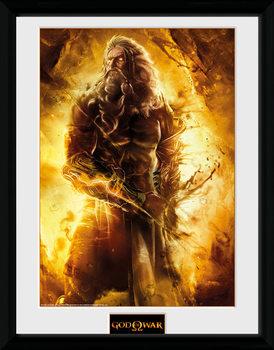 God of War - Zeus Poster encadré en verre