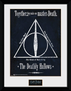 Harry Potter - The Deathly Hallows Poster encadré en verre