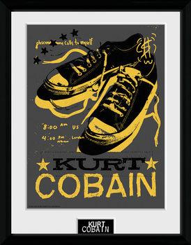 Kurt Cobain - Shoes Poster encadré en verre