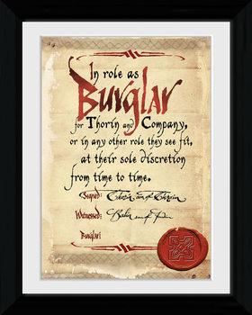 Le Hobbit - Burglar Poster encadré en verre