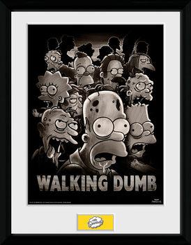 Les Simpson - The Walking Dumb Poster encadré en verre