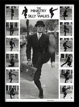 MONTY PYTHON - ministry of silly walks Poster encadré en verre
