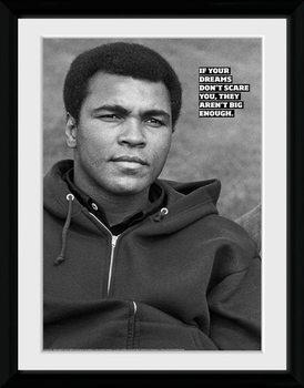 Muhammad Ali - Dreams Poster encadré en verre