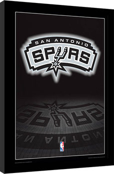 NBA - San Antonio Spurs Logo Poster encadré