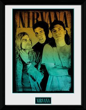 Nirvana - Gradient Poster encadré en verre