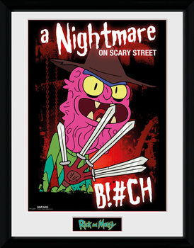 Rick & Morty - Scary Terry Poster encadré en verre