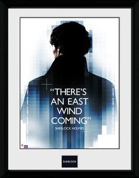 Sherlock - East Wind Poster encadré en verre