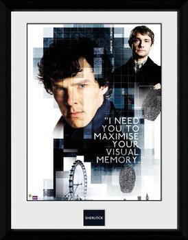 Sherlock - Memory Poster encadré en verre