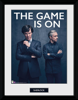 Sherlock - The Game Is On Poster encadré en verre