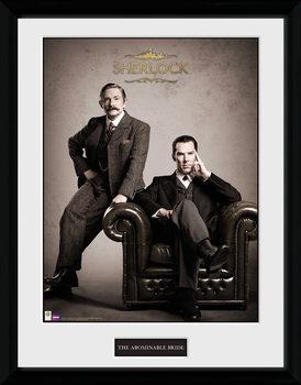 Sherlock - Victorian Poster encadré en verre