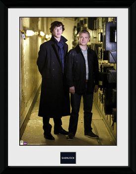 Sherlock - & Watson Portrait Poster encadré en verre
