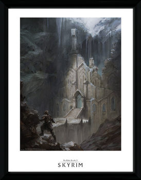Skyrim - Elf Temple Poster encadré en verre