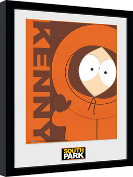 South Park - Kenny Poster encadré en verre
