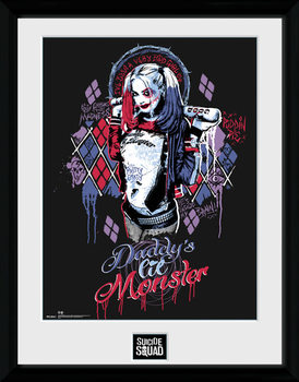 Suicide Squad - Harley Quinn Monster Poster encadré en verre