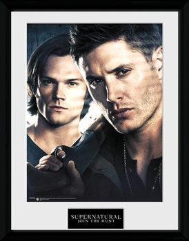 Supernatural - Brothers Poster encadré en verre