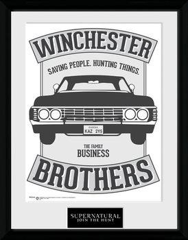 Supernatural - Winchester Poster encadré en verre