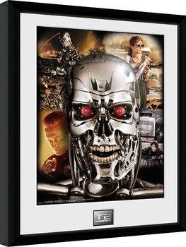 Terminator 2 - Collage Poster encadré en verre