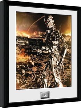 Terminator 2 - Endo Poster encadré en verre