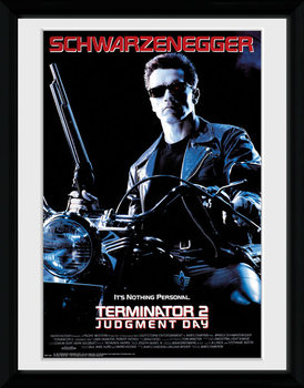Terminator 2 - One Sheet Poster encadré en verre