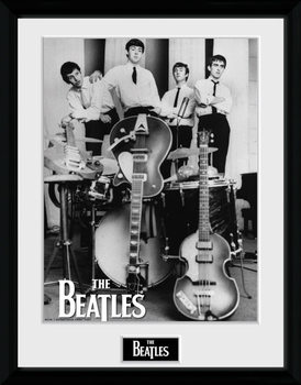 The Beatles - Instruments Poster encadré en verre
