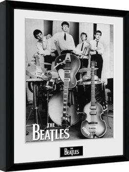 The Beatles - Instruments Poster encadré en verre