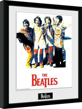The Beatles - Psychedlic Poster encadré en verre