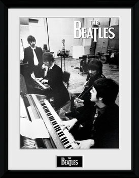 The Beatles - Studio Poster encadré en verre