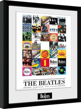 The Beatles - Through The Years Poster encadré en verre