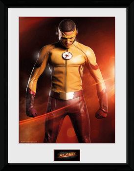 The Flash - Kid Flash Poster encadré en verre