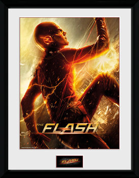 The Flash - Run Poster encadré en verre