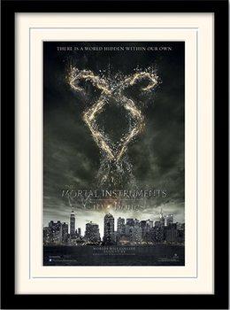 THE MORTAL INSTRUMENTS : LA CITÉ DES TÉNÈBRES – rune  Poster encadré en verre