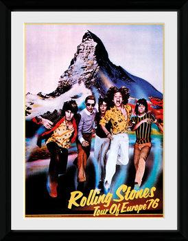 The Rolling Stones - On Tour 76 Poster encadré en verre