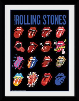 The Rolling Stones - Tongues Poster encadré en verre