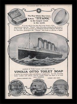 Titanic (4) Poster encadré en verre