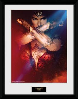 Wonder Woman - Cross Poster encadré en verre