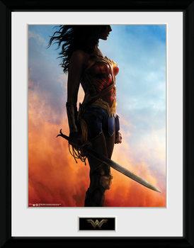 Wonder Woman - Stand Poster encadré en verre