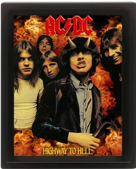 Framed 3Dposter AC/DC - higway to hell