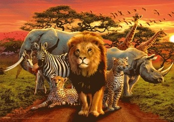 3D Poster African kingdom