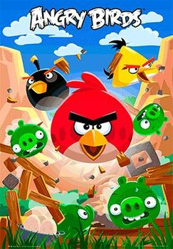3D Poster Angry birds - smash