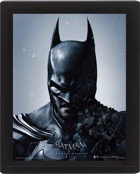 Framed 3Dposter Batman Arkham Origins - Batman/Joker