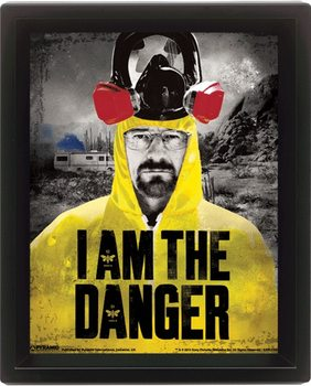 Framed 3Dposter Breaking Bad - I am the danger