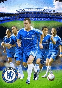 3D Poster CHELSEA - players 3D
