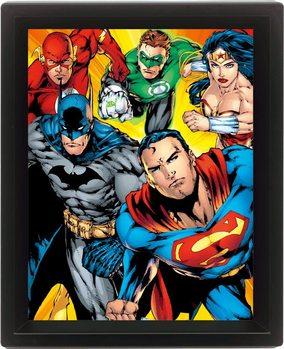 Framed 3Dposter DC COMICS - heroes