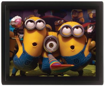 Framed 3Dposter Despicable Me - Party