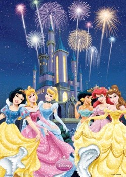 3D Poster  DISNEY PRINCESS - castle