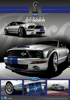 3D Poster Ford - schelby mustang gt 3D