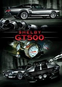 3D Poster Ford Shelby - mustang gt 500 3D
