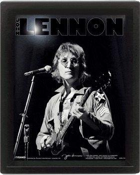 Framed 3Dposter John Lennon -  Live - Bob Gruen