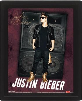 Framed 3Dposter JUSTIN BIEBER speakers