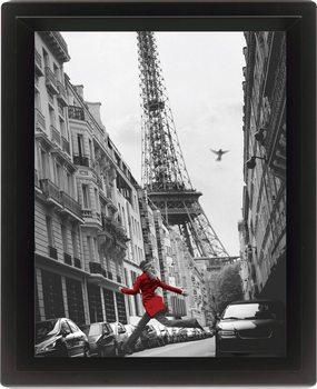 Framed 3Dposter LA VESTE ROUGE